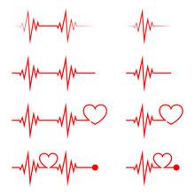 Heartbeat Icon - Vector.
