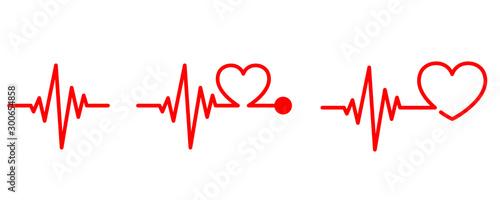 Photo Heartbeat icon - vector.