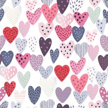 Heart Seamless Pattern With Co...