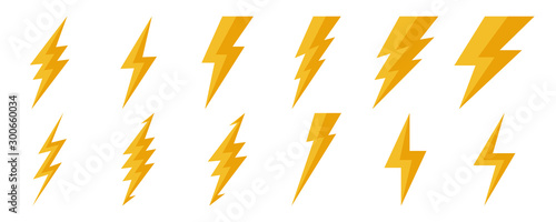 Canvas Print Lightning icons - vector.