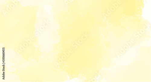 Obraz Yellow watercolor background for your design, watercolor background concept, vector. - fototapety do salonu
