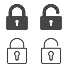 Lock Icon. Set Of Lock Icons I...