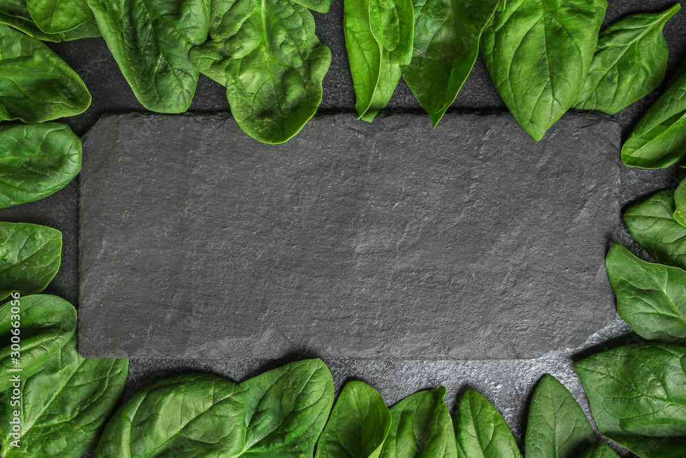 Fototapety, obrazy: spinach (green grass, vitamins salad) menu concept. food background. copy space. Top view