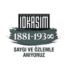 November 10, 1938: 10 Kasim, 1881 - 1938. Death Day Anniversary. Turkey Text: Saygıyla Ve özlemle Anıyoruz. Translation: We Remember With Respect And Longing. Vector Illustration.