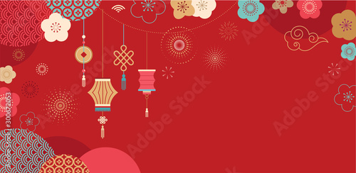 Happy Chinese New Year Design 2020 Rat Zodiac Cute Mouse Cartoon Japanese Korean Vietnamese Lunar New Year Vector Illustration And Banner Concept Buy This Stock Vector And Explore Similar Vectors At