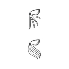 Octopus Vector Silhouette Logo Element Template