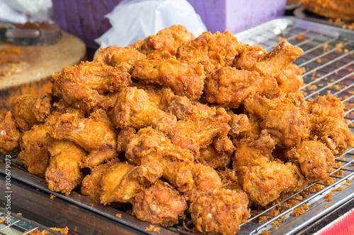 Fototapeta fried chicken wings obraz