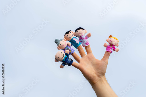 Fotomural family finger puppet theater