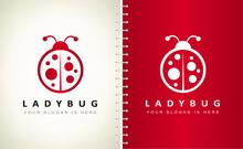 Ladybug Logo Vector. Insect De...