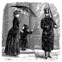 Winter Scene (People On The St...