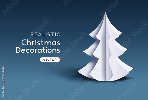 Realistic Vector Christmas Decoration Design