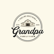Vintage Farms Typography Logo ...