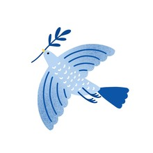 Dove With Olive Branch Vector ...