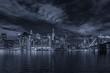 Lower Manhattan by night, NYC