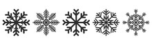 Snowflakes Icons Set. Vector D...