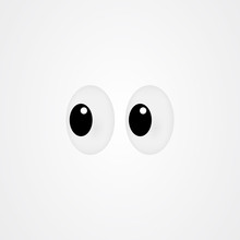 Look Icon Vector Design / Sideways Glance