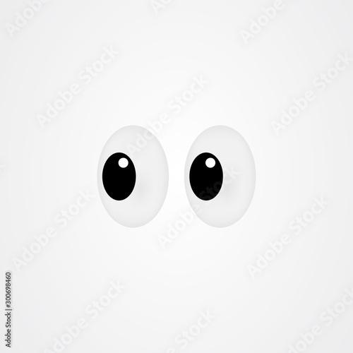 Photo Look icon vector design / sideways glance