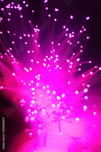 canvas print motiv - Mikhail : New Year and Christmas color illumination. The illusion of a salute explosion. The quirks of light fiber optic lamp.