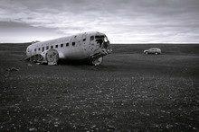 Dc3 Plane Wreck At Solheimsand...