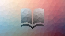 Book Read Fade Modern Tessellated Looping Moving Polygons