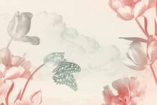 Floral Card Framed Spring Gard...