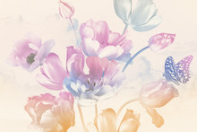 Bouquet Of Spring Garden Flowe...