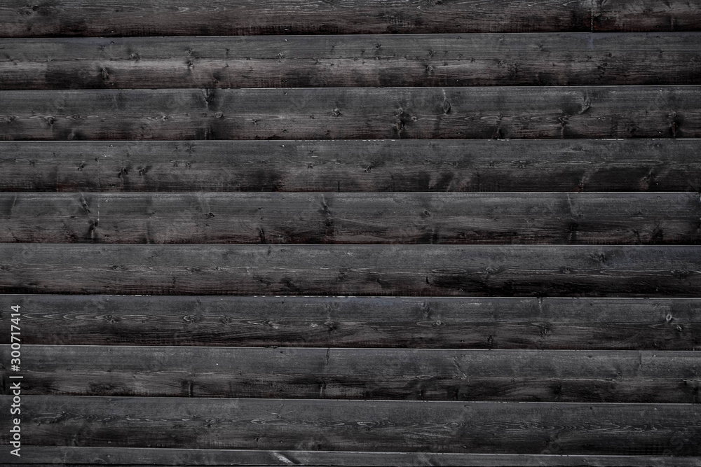 Fototapety, obrazy: Old wood background old wooden wall BW