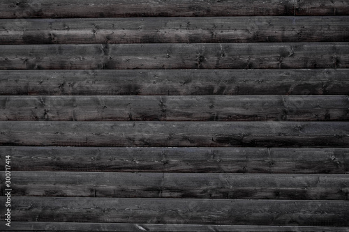 Fotografiet  Old wood background old wooden wall BW