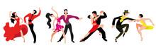 A Set Of Couples Dancing Latin...