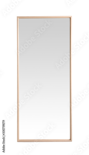Fotografía Beautiful large mirror isolated on white. Home decor
