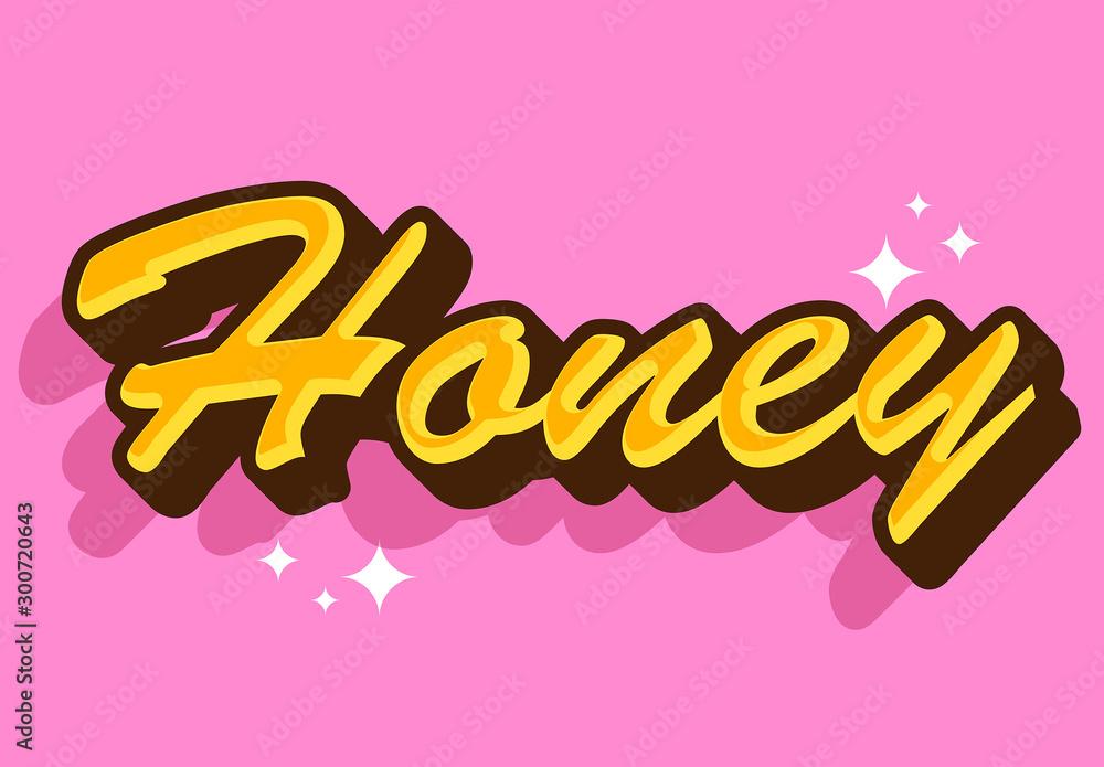 Fototapety, obrazy: Sweet Honey Text Effect