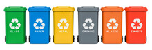 Set Of Recycling Trash Cans, 3...