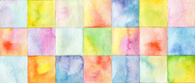 Abstract  Square Watercolor Pa...