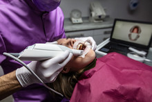 Dental 3d Scanner 3Shape In The Dentist's Office.