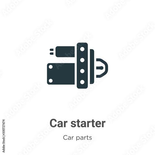 Car starter vector icon on white background Wallpaper Mural