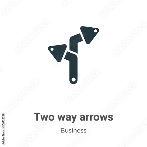 Two way arrows vector icon on white background Canvas-taulu