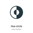 Hue circle vector icon on white background. Flat vector hue circle icon symbol sign from modern user interface collection for mobile concept and web apps design.