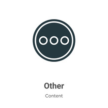 Other Vector Icon On White Background. Flat Vector Other Icon Symbol Sign From Modern Content Collection For Mobile Concept And Web Apps Design.