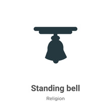 Standing Bell Vector Icon On W...
