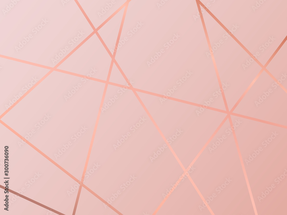 (illustration) gold line background, abstract artistic of geometric background <span>plik: #300736090 | autor: Lepusinensis</span>