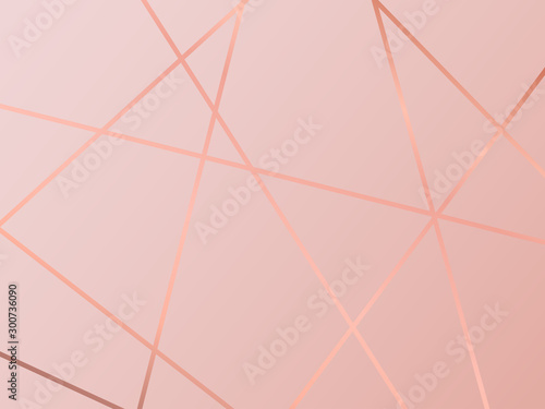 Canvas Print (illustration) gold line background, abstract artistic of geometric background