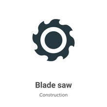 Blade Saw Vector Icon On White...