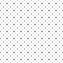 Black Circles And Squares On A White Background. Abstract Seamless Dots Backdrop.