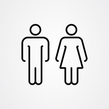 Toilet Icon Vector. Man And Woman Symbol.
