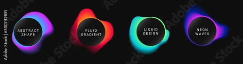 Photo Vector colorful neon templates