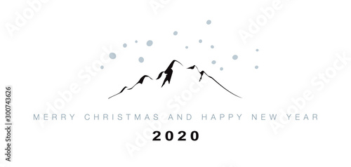 MERRY CHRISTMAS_HAPPY NEW YEAR Wallpaper Mural