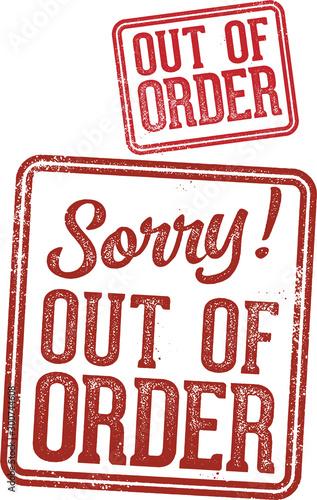 Out of Order Warning Sign Tapéta, Fotótapéta