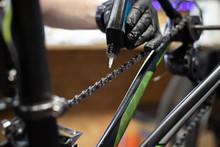 Close Up Shot Of Bicycle Mecha...