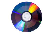 Compact Discs On A White Backg...