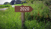 Pancarte En Bois ,direction 20...